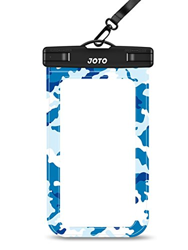 """Waterproof Case, JOTO Cellphone Waterproof Dry Bag Pouch Case for Apple iPhone 6S 6,6S Plus, SE 5S 7, Samsung Galaxy S7 S6, Note 5 4, HTC LG Sony Nokia Motorola up to 6.0"""" Diagonal (Blue Camo)"""