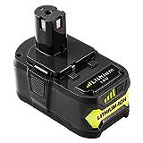 Reoben 18V 5,0Ah Lithium-Ion Batterie Remplacement Pour Ryobi ONE+ P108 P107 P104 P105 P102 P103 Outils Sans Fil