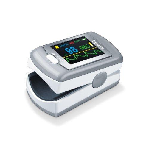 Beurer PO 80 Pulsossimetro con Funzione di Registrazione Dati 24 h, Funzione Allarme e Batteria al...