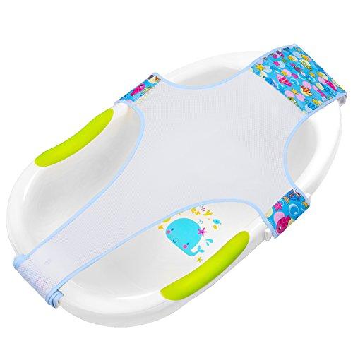 HBselect Badewannensitz Baby antirutsch kreuzförmig Badewanne Unterstützung Badezubehör für Neugeborenen oder Kleinkind (blau)