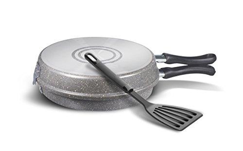 Bialetti y0C5fb0240Trudi R Pfanne Omelett + Utensil Aluminium Grau 60x 27,5x 23,5cm