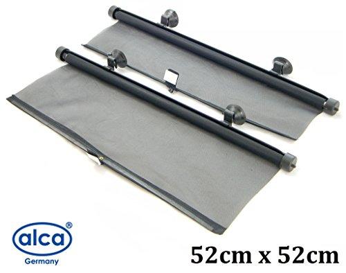 Set mit 2Sonnenschutzrollos für Auto / Lkw, 52cm x 52cm, Größe L, schwarz