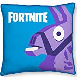 Fortnite Cojín de Peluche Lama Azul 40 x 40 cm Cojín Decorativo para Coche Cojín Decorativo Cojín de Peluche Cojín Battle Royale Loot Lake Salty Springs Tilted Towers Shifty Shafts Skins Season 8