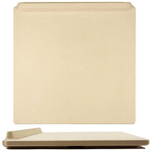 La Definitiva Pietra per Pizza Rettangolare, 35 x 40cm, per Cucinare al Forno e sulla Griglia....