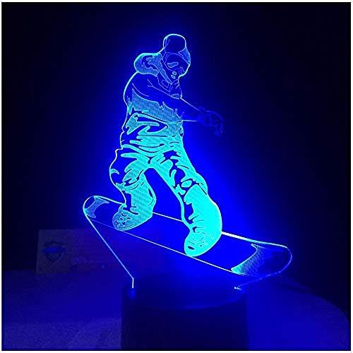 Lampada Da Snowboard A Led Smart Touch A Distanza A Luce Notturna 7 Modifica Dei Colori Luce 3D...