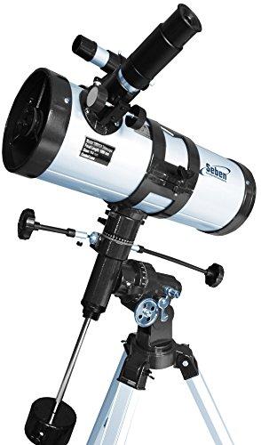 Seben 1000-114 Star-Sheriff EQ3 Telescopio riflettore con 'Big Pack' incluso