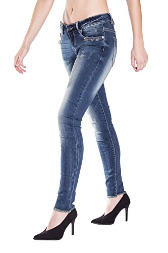 Blue Monkey Damen Cropped Jeans Honey 1857 Size 29
