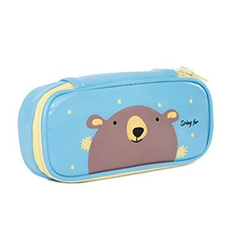 Cosanter matita borsa custodia lovely Bear modello in similpelle con cerniera in pelle cosmetici...