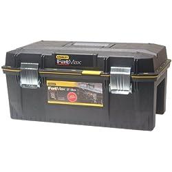 Stanley FatMax Werkzeugbox / Werkzeugkoffer (58.4x30.5x26.7cm, spritzwassergeschützer Koffer, robuste nicht-rostende Metallschließen, Box mit Gummiabdichtung für mehr Schutz) 1-94-749