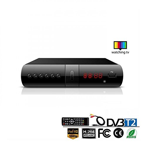 zero81store DECODER DIGITALE TERRESTRE RICEVITORE DVB-T2 FULL HD SCART USB E HDMI MPEG4 JPEG