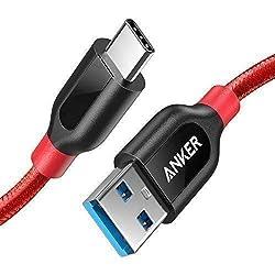 Kaufen USB C Kabel auf USB 3.0 Anker PowerLine+ 90cm - [lebenslange Garantie] sehr Beständig für USB Typ-C Geräte Inklusive Galaxy S9, S8+, S8, MacBook, Sony XZ, LG V20 G5 G6, HTC 10, Xiaomi 5 und weitere (Rot)