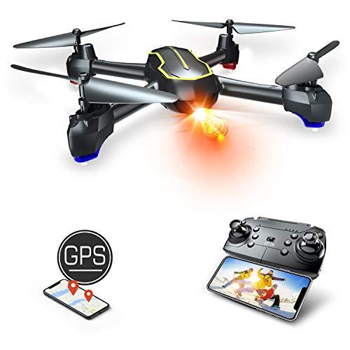 Asbww | Drone GPS con Telecamera Full HD 1080p per Bambini e Principianti di Droni - Quadricotteri RC Drone FPV con GPS Funzione di RTH / 16 Minuti di Volo / Funzione Seguimi