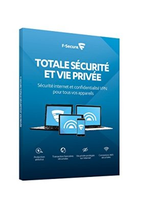 F-SECURE TOTAL - Sécurité Internet et confidentialité VPN pour smartphones, tablettes, PC et MAC - 3 appareils / 2 ans (réf. FCFTBR2N003FR)