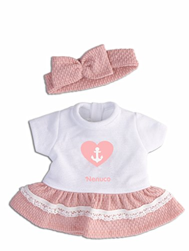Nenuco - Ropita Casual 35cm. Vestido Blanco con diadema de lazo rosa (Famosa) (700013822)
