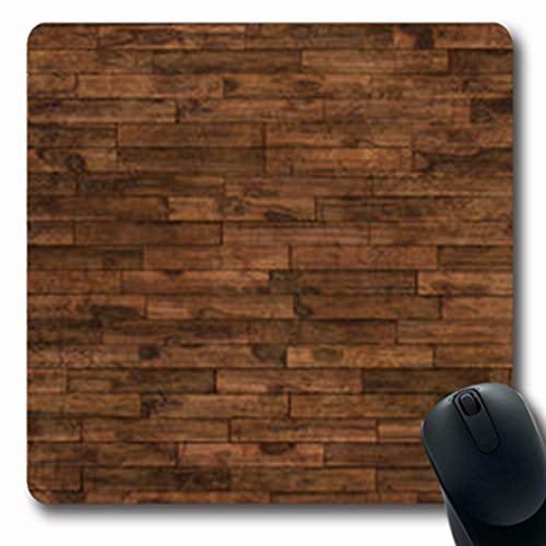 Mousepads Abstract Aged Wooden Floor Row Brown Wood Parquet Pattern Flo Oblong Shape 7.9 x 9.5...