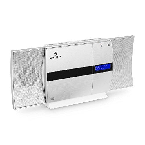 auna V-20 DAB-Mini Impianto Stereo Verticale-Bluetooth-Lettore CD-Porta USB MP3-Connettivitá...