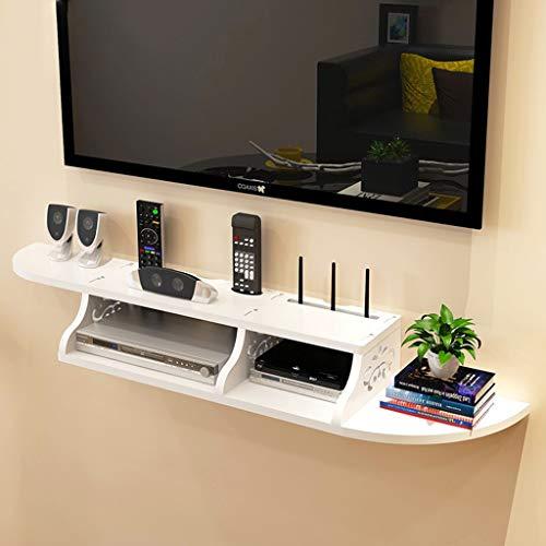 Mensola a Muro Galleggiante mensola Set Top Box Staffa Lettore HD TV-Box mensola Router Porta TV a...