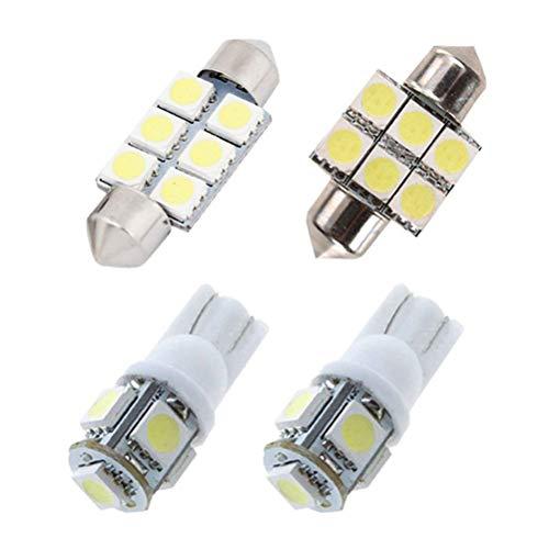 4Pcs Bianco Car Interior Light per Yaris Schiebedach Luci targa Lampade Mappa LED Lettura Bulbi