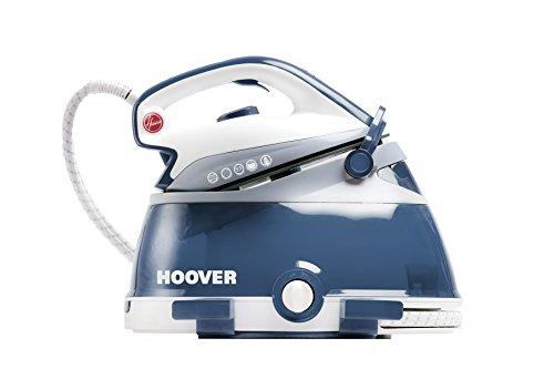 Hoover IRONVISION + Ferro da stiro a secco e a vapore Ceramica Blu, Benzina, Trasparente 2500 W