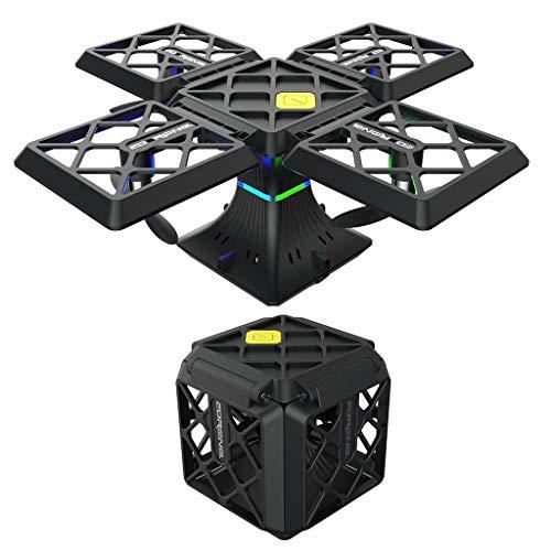 GHMOZ Drone Volante di Lunga Durata del Quadrato del Mini Drone Quadcopter Pieghevole con L'aereo Telecomandato della Macchina Fotografica di HD (Color : Black)