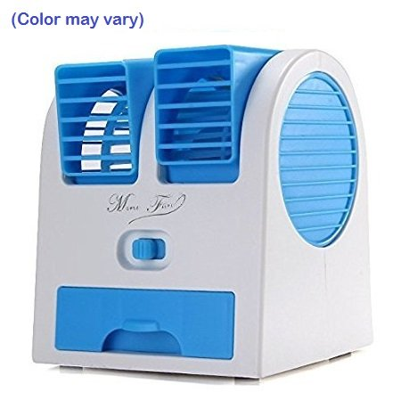 Absales Mini Fragrance Air conditioner Cooling Fan (White:Blue)