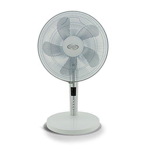 ARGO Tablo White Ventilatore da Tavolo, Diametro 40 cm, 5 Pale, Pannello Comandi Digitale, 3...