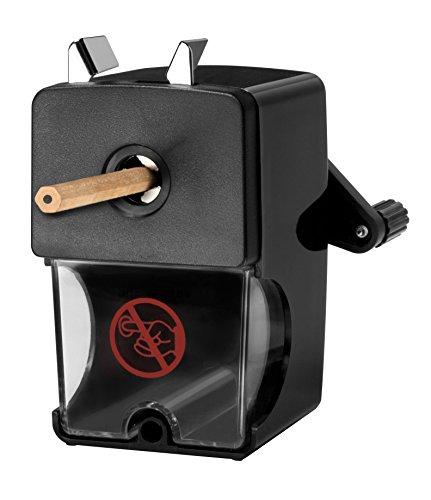 Westcott E-14216 00 Anspitzer für Stiftdurchmesser 7 bis 12 mm, manuell, schwarz