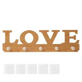 """'exing Ganci in legno adesivo""""Love porta decorazione da parete Ganci Portachiavi taglia"""