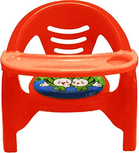 Samaaya Small Baby Chair with Front Food and Safety Tray (Red)