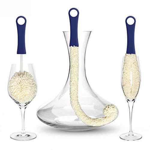 Decanter e Glassware Cleaning Brushes - Spazzola per la pulizia del vetro per la pulizia di aree...