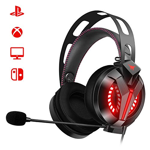 Combatwing Auriculares Gaming para PS4 PC con Micrófono, Cascos Gaming de...