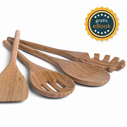 BASIL Holz Küchenhelfer Set im praktischen 4er Set