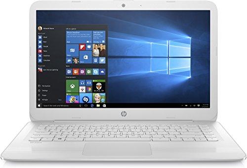 "HP 14-ax007ns Stream - Ordenador portátil de 14"" HD (Intel Celeron N3060, 4 GB RAM, 64 GB eMMC, Intel HD Graphics 400, Windows 10); Blanco nieve - [Teclado QWERTY español]"