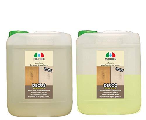 Marbec - DECO2 5LT + 2,5LT | Soluzioni decolorante per legno grezzo