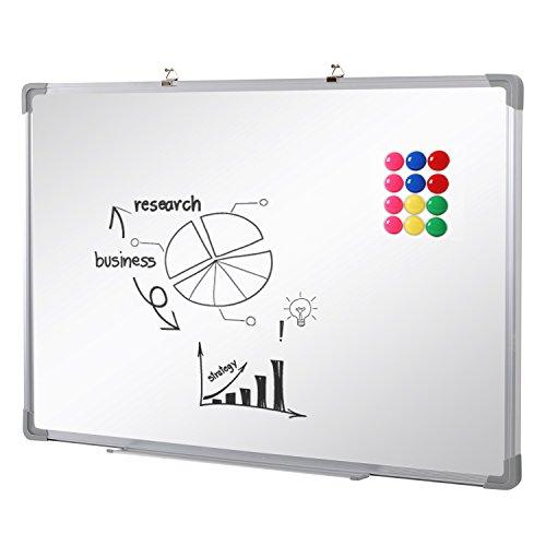 SwanSea lavagna magnetica bianca cancellabile per la scuola casa ufficio 110x80cm