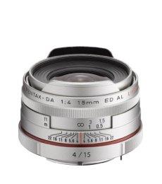 Pentax DA 15mm F4 AL LTD HD - Objetivo para cámaras réflex Pentax Bayoneta K, Plateado