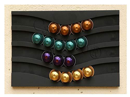 Portacapsule capstores distributore per 40 capsules tipo nespresso (nero)