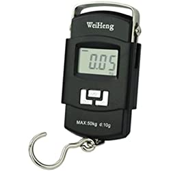 Generic Digital Heavy Duty Portable Hook Type with Temp Weighing Scale, 50 Kg,Multicolor