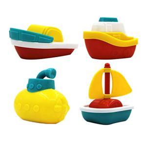 Babysbreath17 4pcs / Set Barcos bebé bañera baño Piscina de Juegos de Agua Diversión Juguetes para niños temprano Educativo del Juguete de Aprendizaje