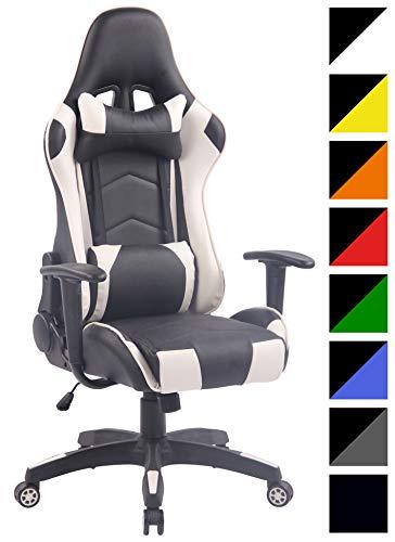 CLP Sedia Gaming Miracle V2 in Similpelle - Sedia Racing 2 Cuscini - Poltrona Girevole con Max Carico 150Kg - Sedia Gamer Regolabile 47-57cm Nero_Arancione