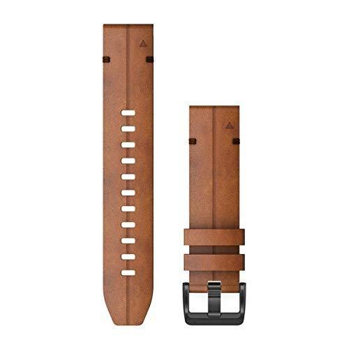 Garmin Quickfit Cinturino, pelle di castagno, 22 mm