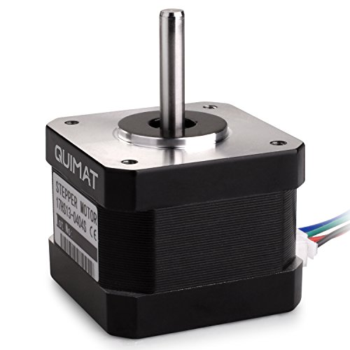 This is the most popular Nema 17 model with 1.8 deg. step angle (200 steps/revolution).  Each phase draws current 0.4A at 12V, allowing for a holding torque of 26Ncm(36.8oz.in).  Electrical Specification: * Motor Type: Bipolar Stepper * Step ...