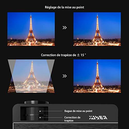 YABER Vidéoprojecteur 4200 Lumens Soutien 1080P Full HD Home Cinéma Projecteur LED avec Deux Haut-parleurs Stéréo (de Qualité HiFi - Haute-f... 9