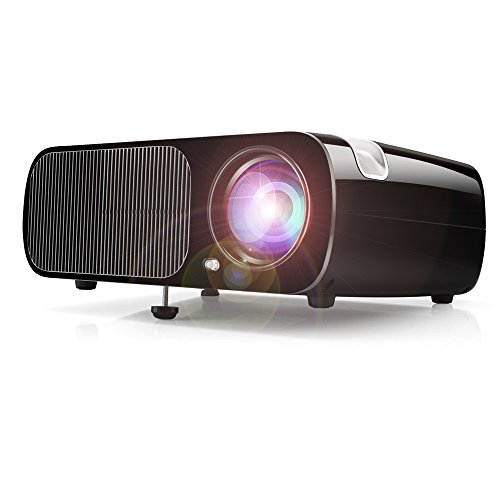 Beamer, Video Beamer Projektor Multimedia Unterstützung PC Laptop Projektor Xbox TV Box Ideal für 1080p Heimkino Theater Unterhaltung Spiele und Versammlungen, 1 Jahr Garantie (B20-Black)