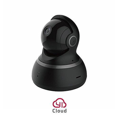 YI Telecamera di Sorveglianza 1080p IP Camera Videocamera WiFi 360° con Sensore Movimento Visione Notturna per iOS/Android (Nera)
