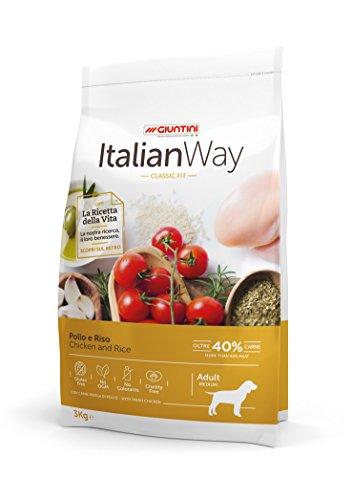 Giuntini Italian Way Crocchette per Cani - ricetta Classic Fit al Pollo e Riso - Adult - Medium -...