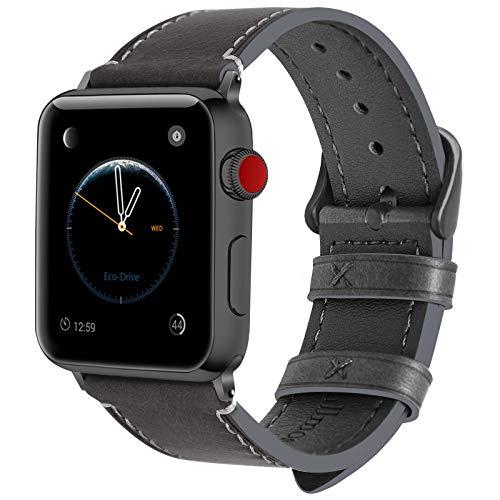 Fullmosa Compatibile Cinturino per Apple Watch 38mm/40mm e 42mm/44mm, 8 Colori Wax Cinturino per...