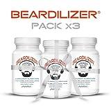 Beardilizer® - 1er Accélérateur de Pousse de Barbe (Pack x3) - 270 Capsules