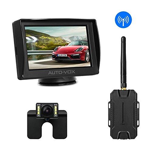 Auto-Vox M1W kit telecamera senza fili,impermeabile IP68,LED per un'eccellente visione notturna, telecamera per targa posteriore,4.3'monitor LCD a cristalli liquidi con transistor pellicola sottile