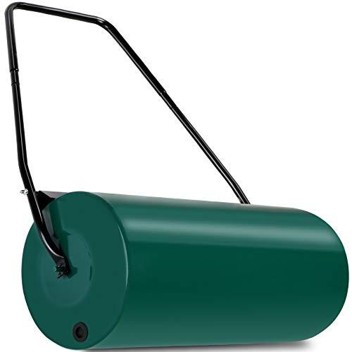 Deuba Rodillo para césped apisonadora de jardín 60 cm herramienta con capacidad de relleno 60 kg manejable con asa
